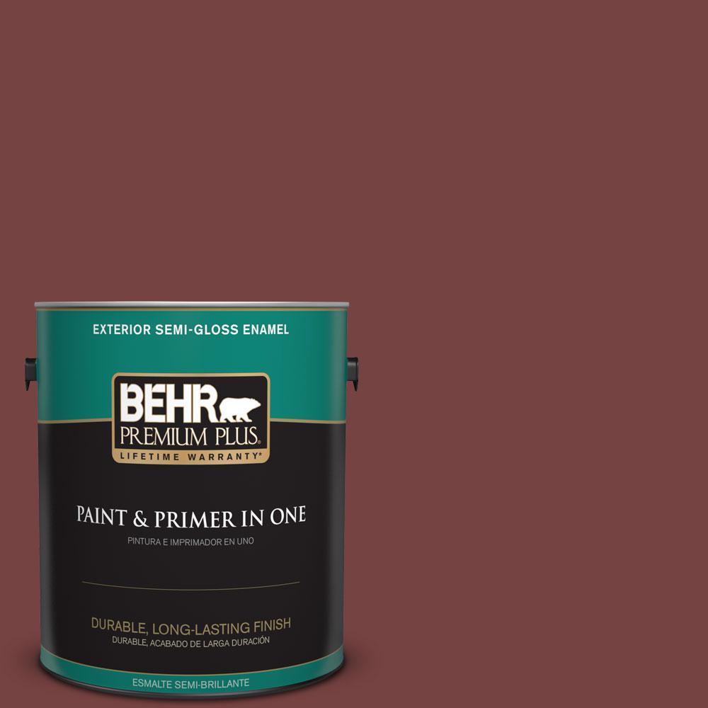 1-gal. #S130-7 Cherry Cola Semi-Gloss Enamel Exterior Paint