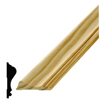 WM 390 11/16 in. x 2-5/8 in. x 96 in. Wood Pine Chair Rail Moulding