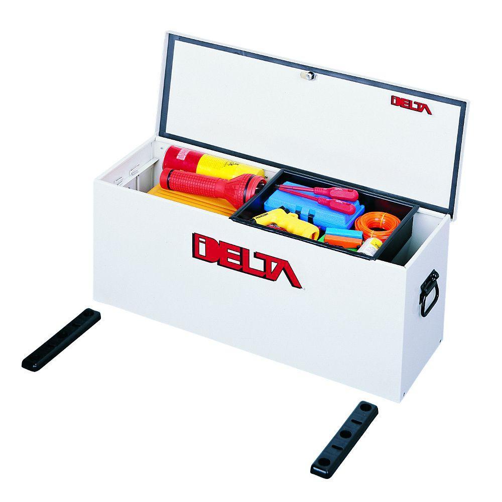 Delta 32-5/8 in. Long Steel Portable Lock-Down Hopper Utility Chest