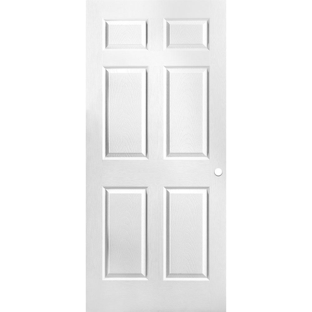 Masonite 36 In X 80 In Primed Textured 6 Panel Hollow Core Composite Interior Door Slab With Bore 61117 The Home Depot