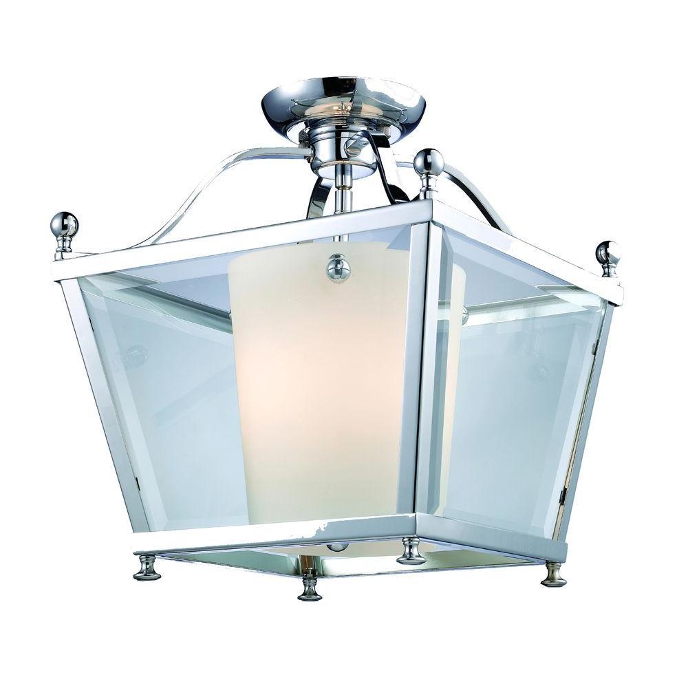 Lawrence 3-Light Chrome Candelabra Ceiling Flushmount
