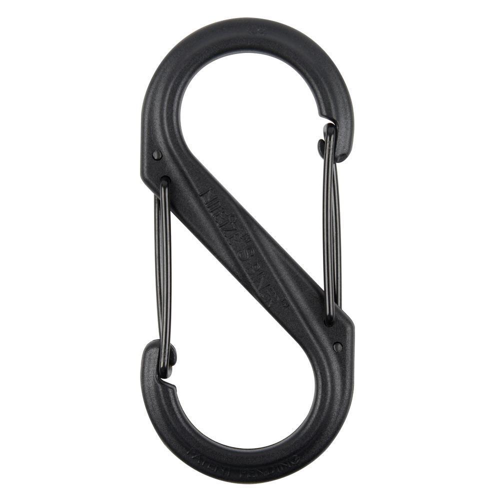 #4 Black Plastic S-Biner