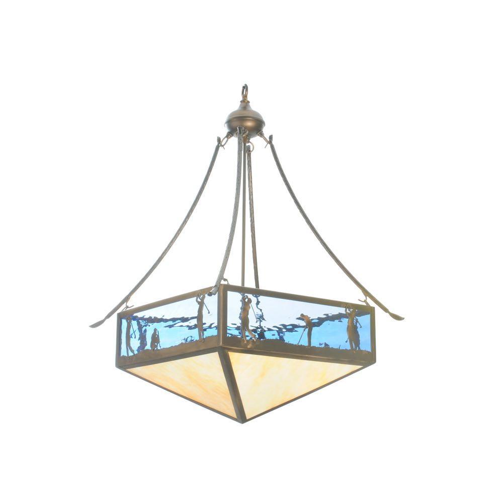 Illumine 4 Light Golf Inverted Pendant Antique Copper Finish