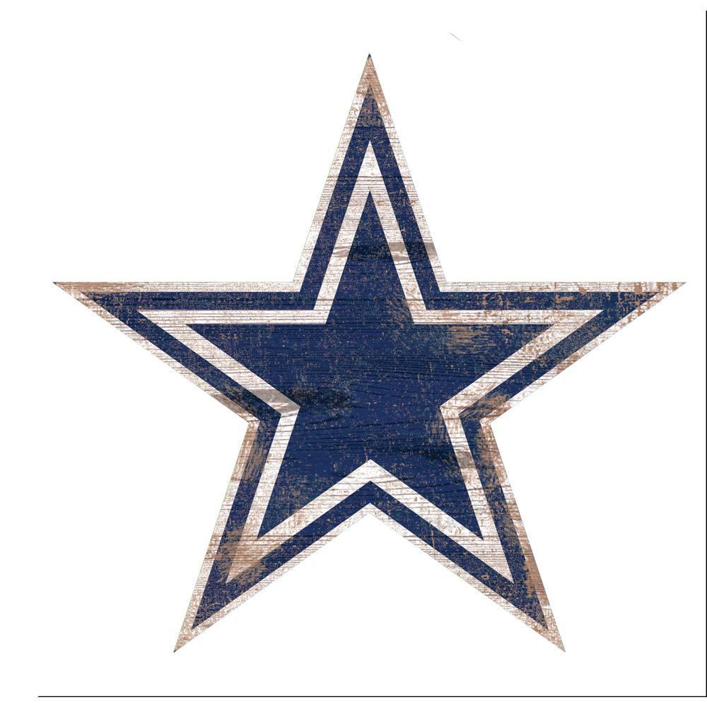 NFL Indoor Dallas Cowboys Distressed Logo Cutout Wood Sign