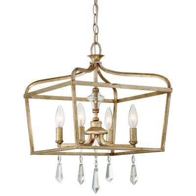 Laurel Estate 4-Light Brio Gold Mini Chandelier
