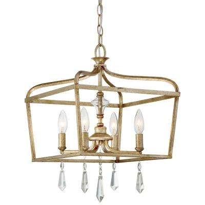 Laurel Estate 4-Light Brio Gold Mini Chandelier  sc 1 st  The Home Depot & Gold - Lantern - Chandeliers - Lighting - The Home Depot azcodes.com