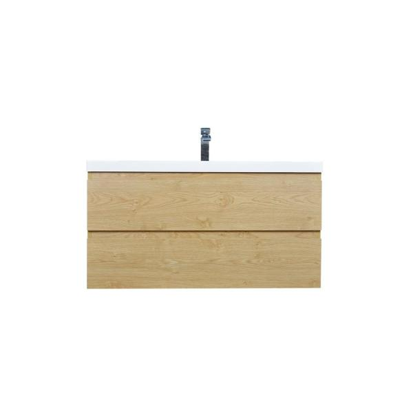 Bohemia 42 in. W Bath Vanity in New England Oak with Reinforced Acrylic Vanity Top in White with White Basin