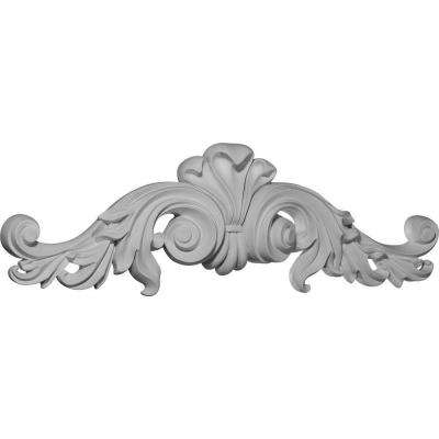 1-7/8 in. x 23-1/2 in. x 7-1/4 in. Polyurethane Scroll Center Onlay Moulding