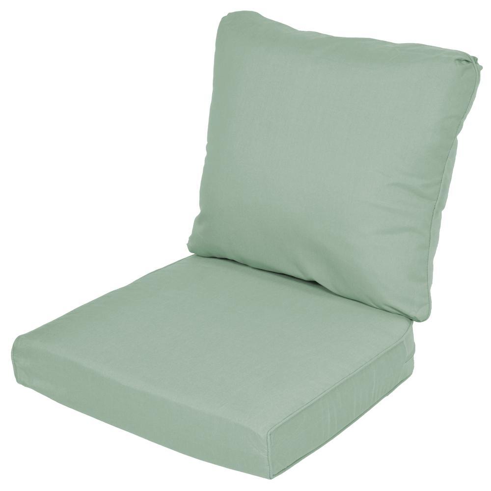 Lemon Grove Sunbrella Spectrum Mist Replacement 2 Piece Outdoor Loveseat  Cushion