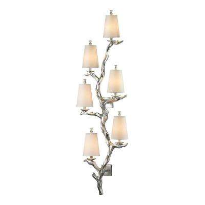 Luminaria Collection 6-Light Silver Leaf Sconce