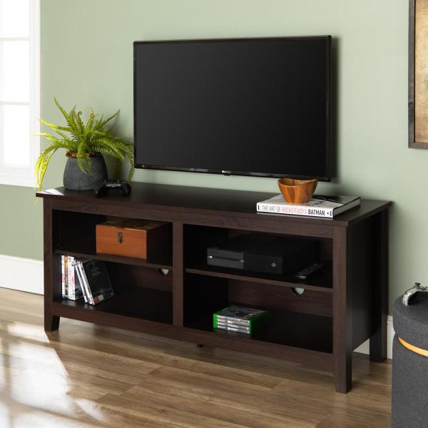 Walker Edison Furniture Company Essential Espresso Entertainment Center