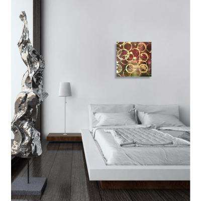 "14 in. x 14 in. ""Wine Gold"" By Wynwood Studio Framed Printed Wood Wall Art"