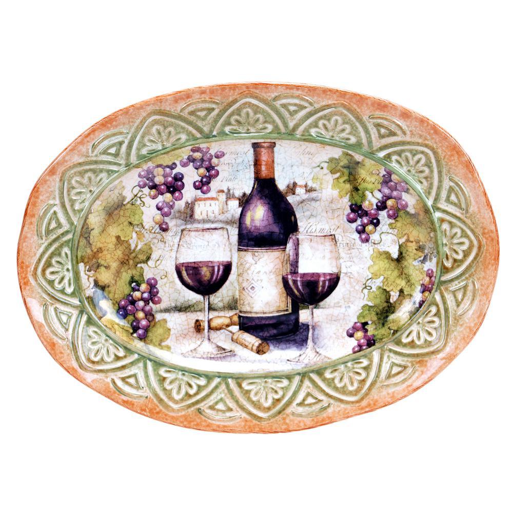 Sanctuary Wine Oval Platter