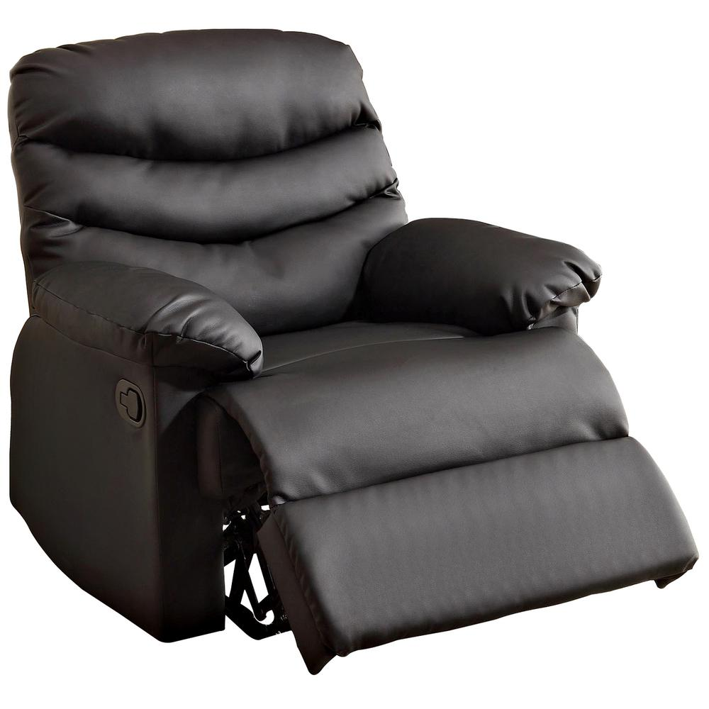 Good Furniture Of America Pleasant Valley Black Bonded Leather Recliner