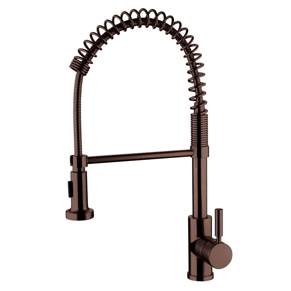 Yosemite Home Decor Single-Handle Pull-Out Sprayer Kitchen Faucet in Oil Rubbed Bronze