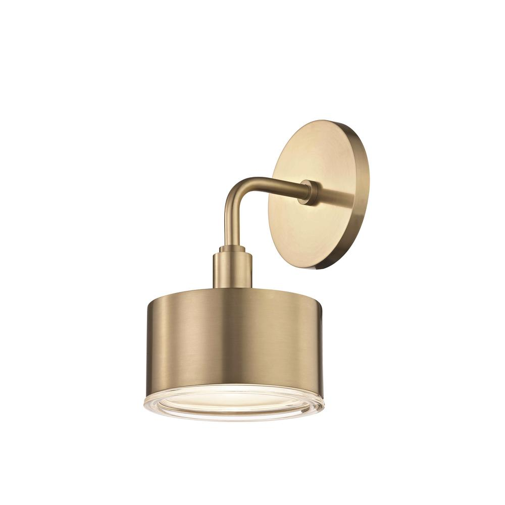 Jackyled Wall Sconces: Mitzi By Hudson Valley Lighting Nora 1-Light Aged Brass