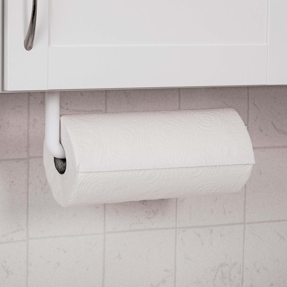 White Swivel Paper Towel Holder