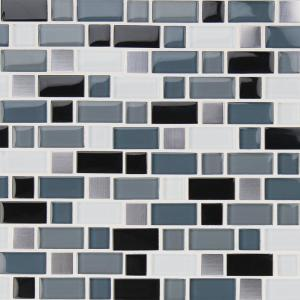 Gl Blend Mesh Mounted Mosaic Tile Glmt Ccb 8mm The Home Depot