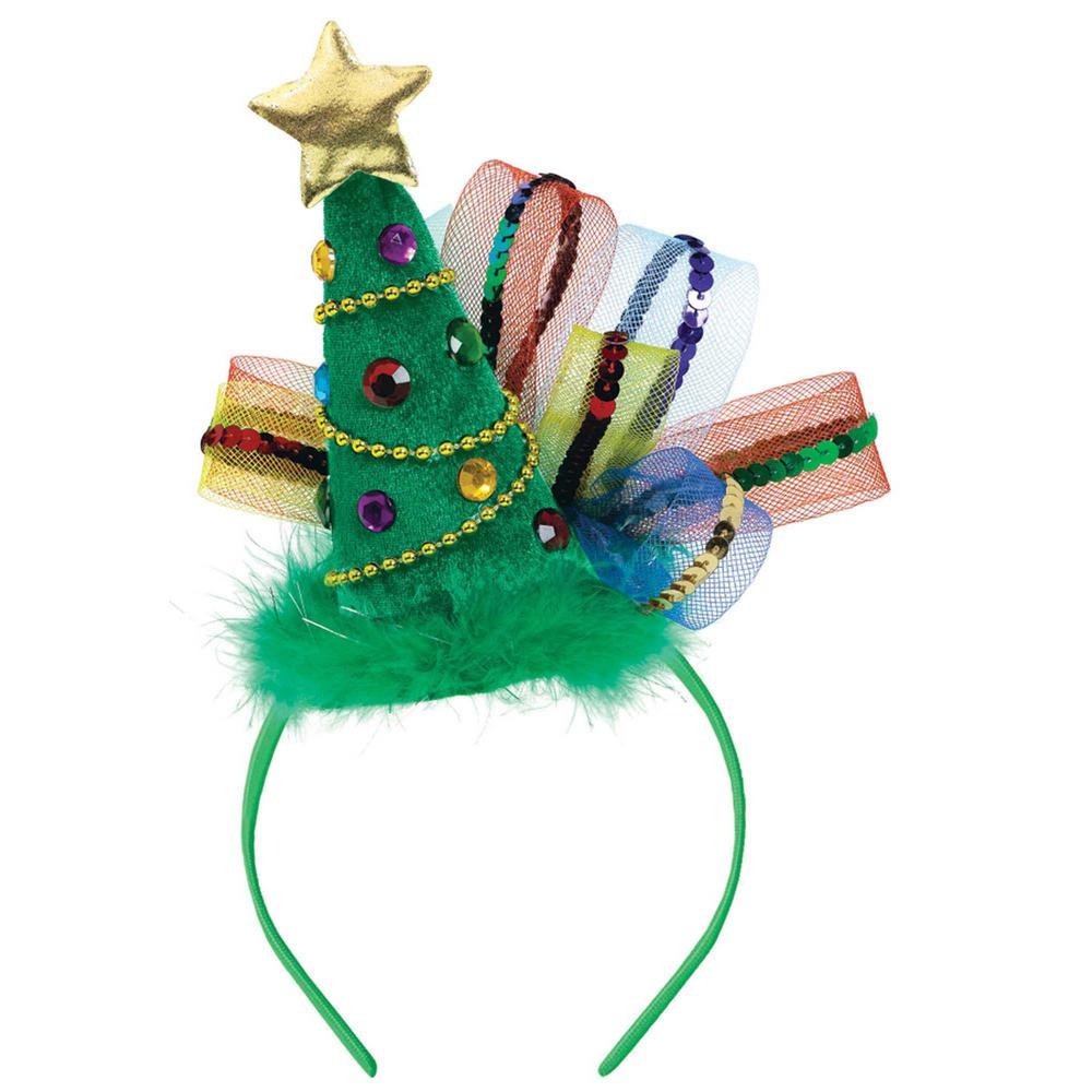 11 in. x 7.875 in. Christmas Tree Fashion Headband (2-Pack)