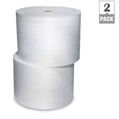 1/16 in. x 24 in. x 1250 ft. Perforated Foam Cushion (2-Pack)
