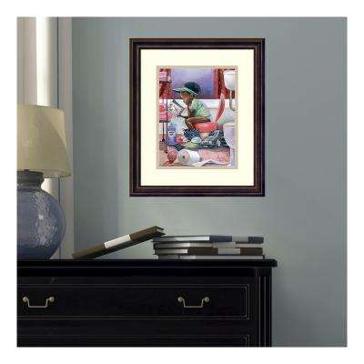 14 in. W x 16 in. H 'The Thinker' by Frank Morrison Framed Printed Wall Art