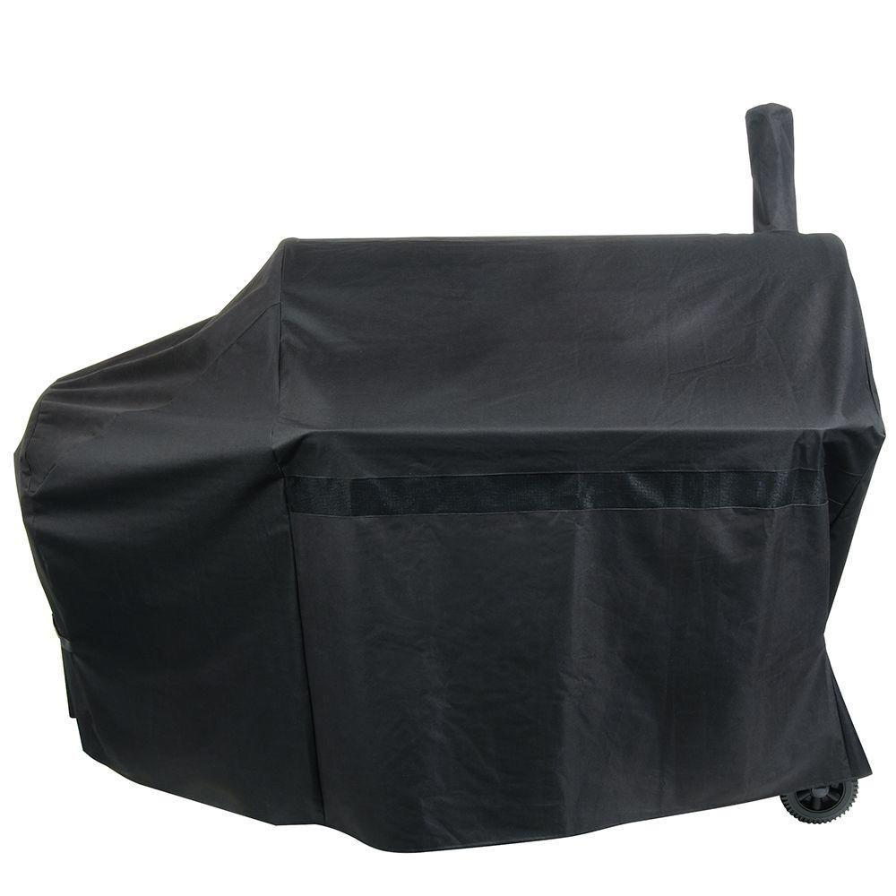 Nexgrill Industries Premium Smoker Cover, Black Protect your grilling investment with the Universal Parts Premium Smoker Cover. The heavy duty polyester construction and weather resistant coating offer maximum protection for your cooking equipment. Keep your grill cooking perfect and looking great by protecting the unit from weather and outdoor elements. Color: Black.