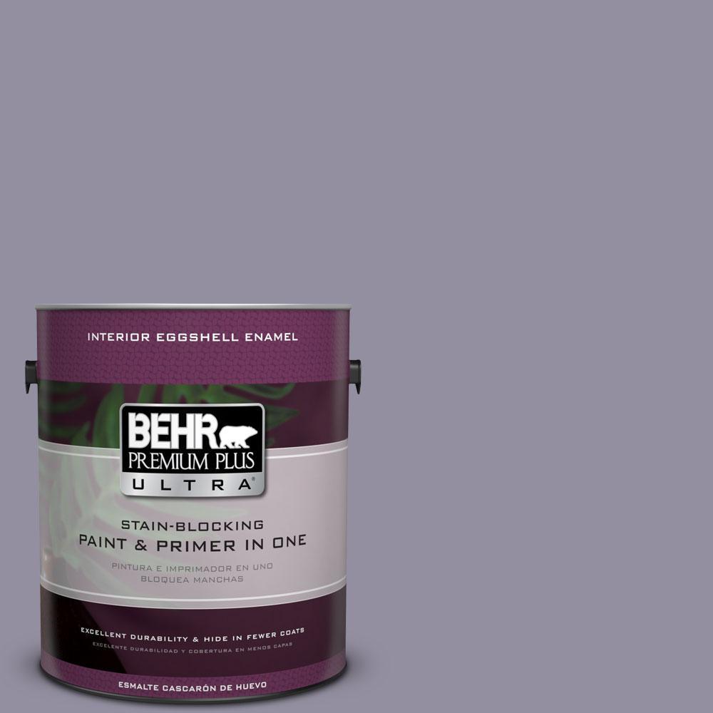 BEHR Premium Plus Ultra 1-gal. #N560-4 Evening in Paris Eggshell Enamel Interior Paint