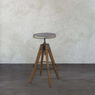 Rolfe 30 in. Medium Brown Wood Bar Stool