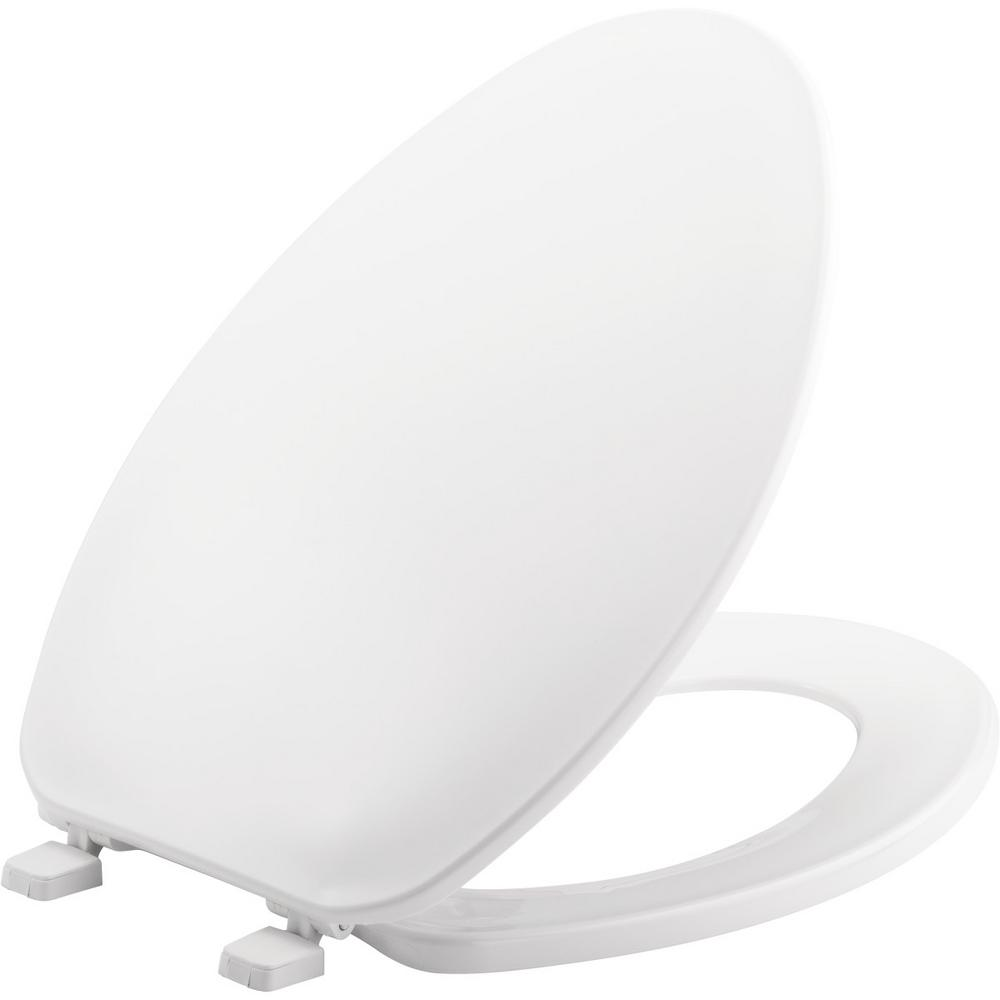 Surprising Church Elongated Closed Front Toilet Seat In White Machost Co Dining Chair Design Ideas Machostcouk