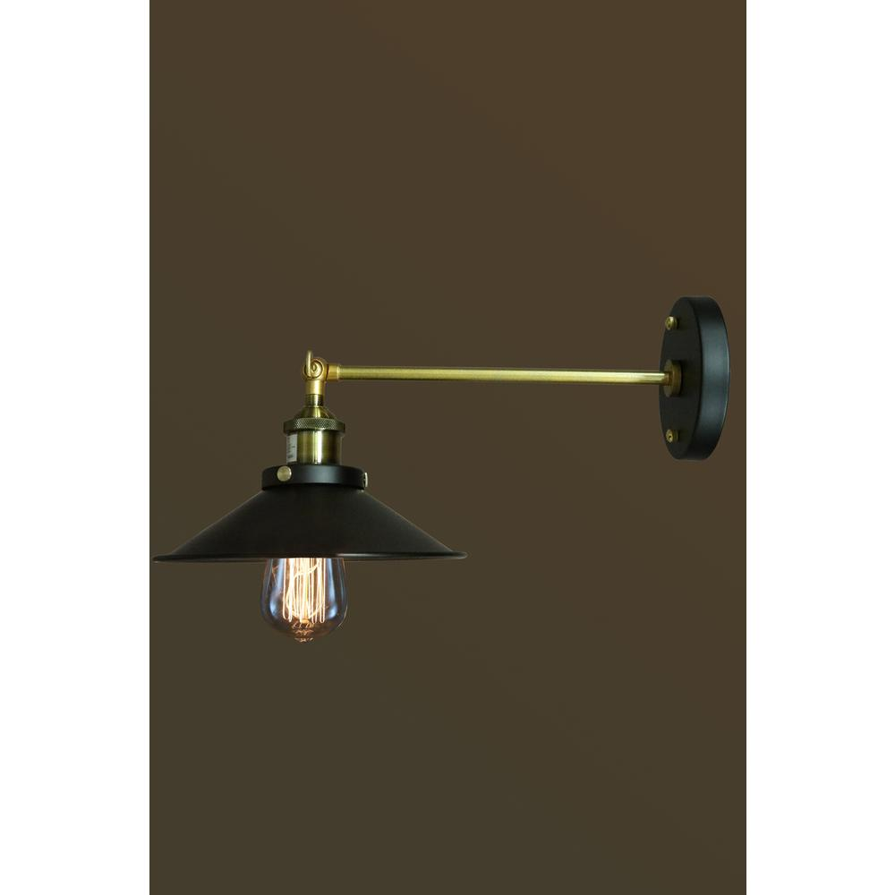 null Edison Dorothy Collection 1-Light Black Indoor Wall Sconce