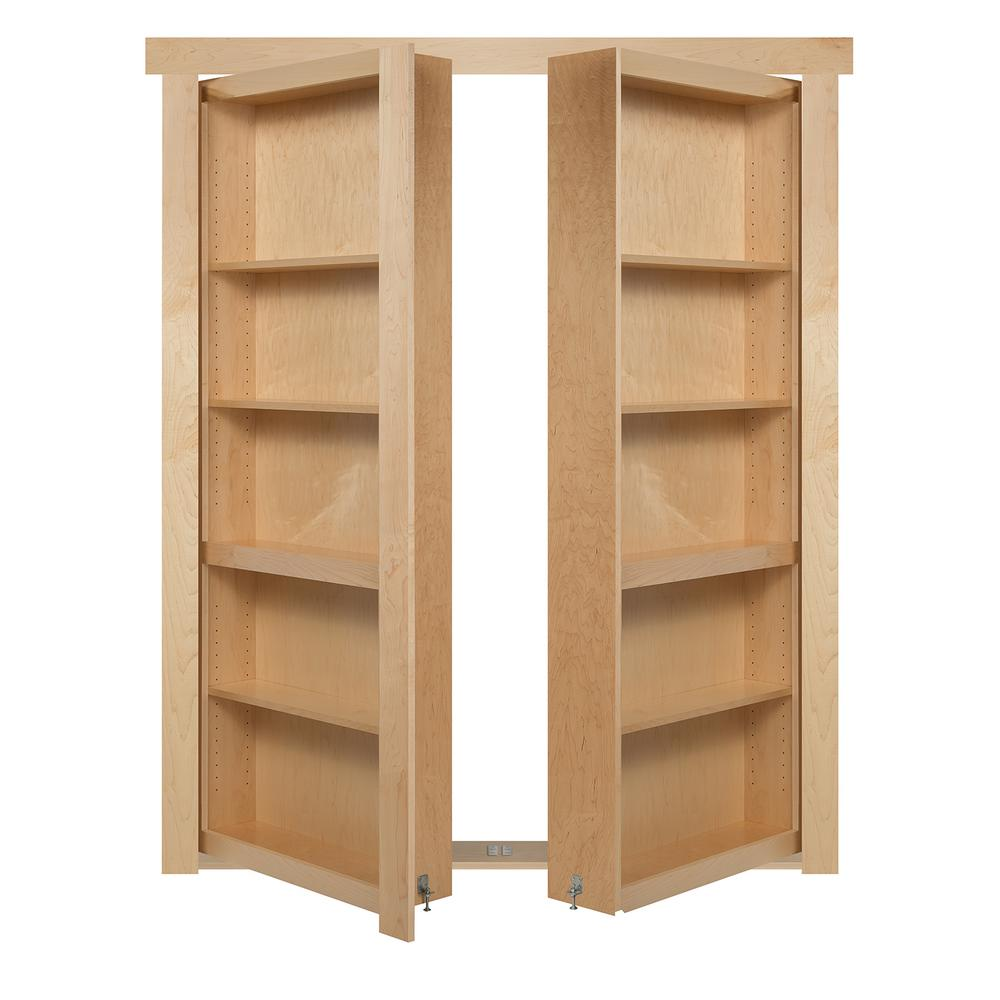 The Murphy Door 48 In X 80 In Flush Mount Assembled Maple Natural Stained Universal Solid Core