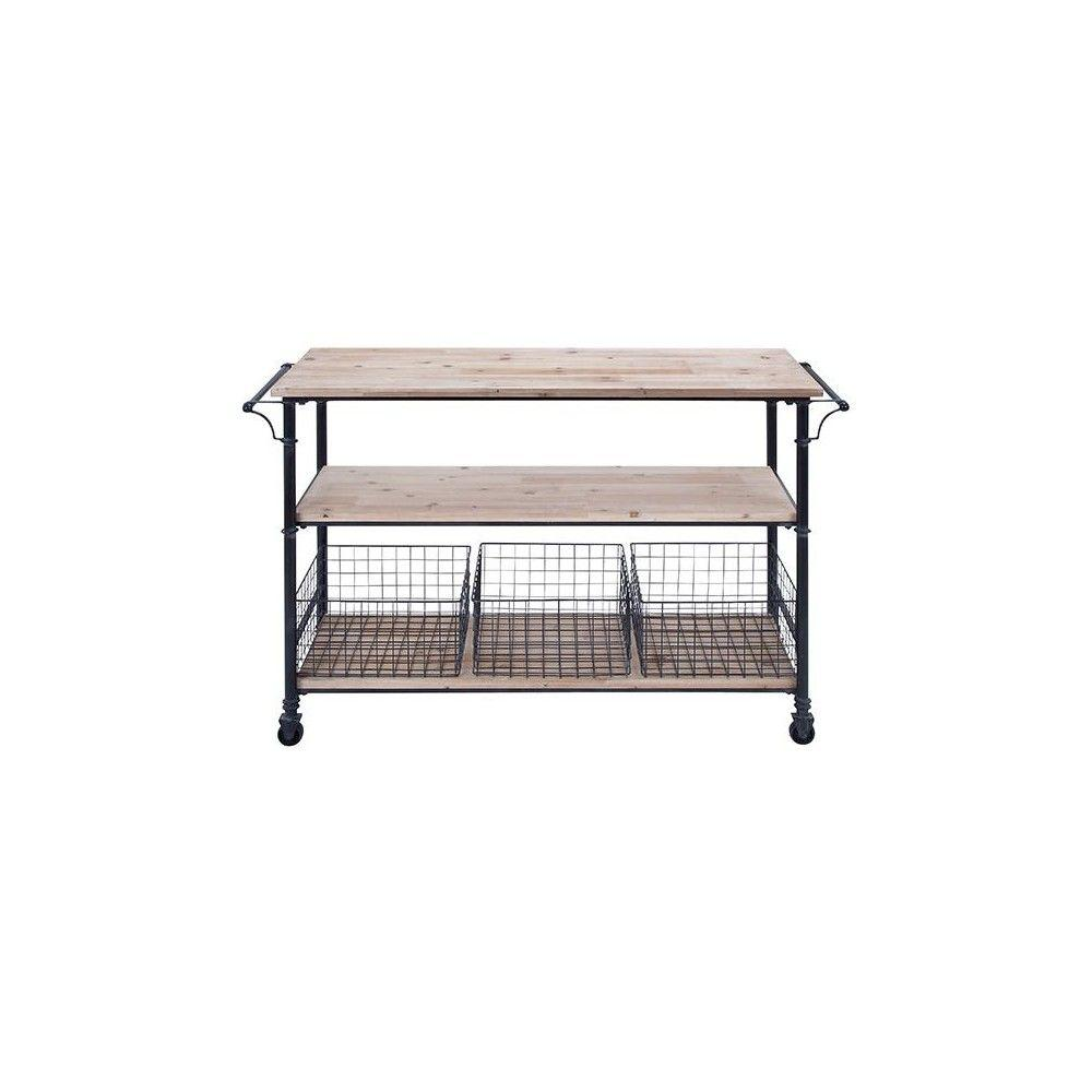 Hopper Black 48 in. Storage Cart