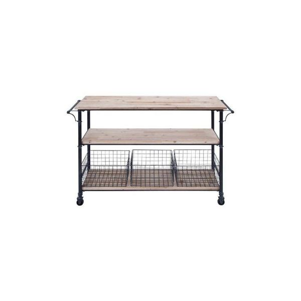 undefined Hopper Black 48 in. Storage Cart