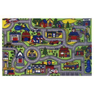 Fun Time Driving Time Multi 7 ft. x 10 ft. Area Rug