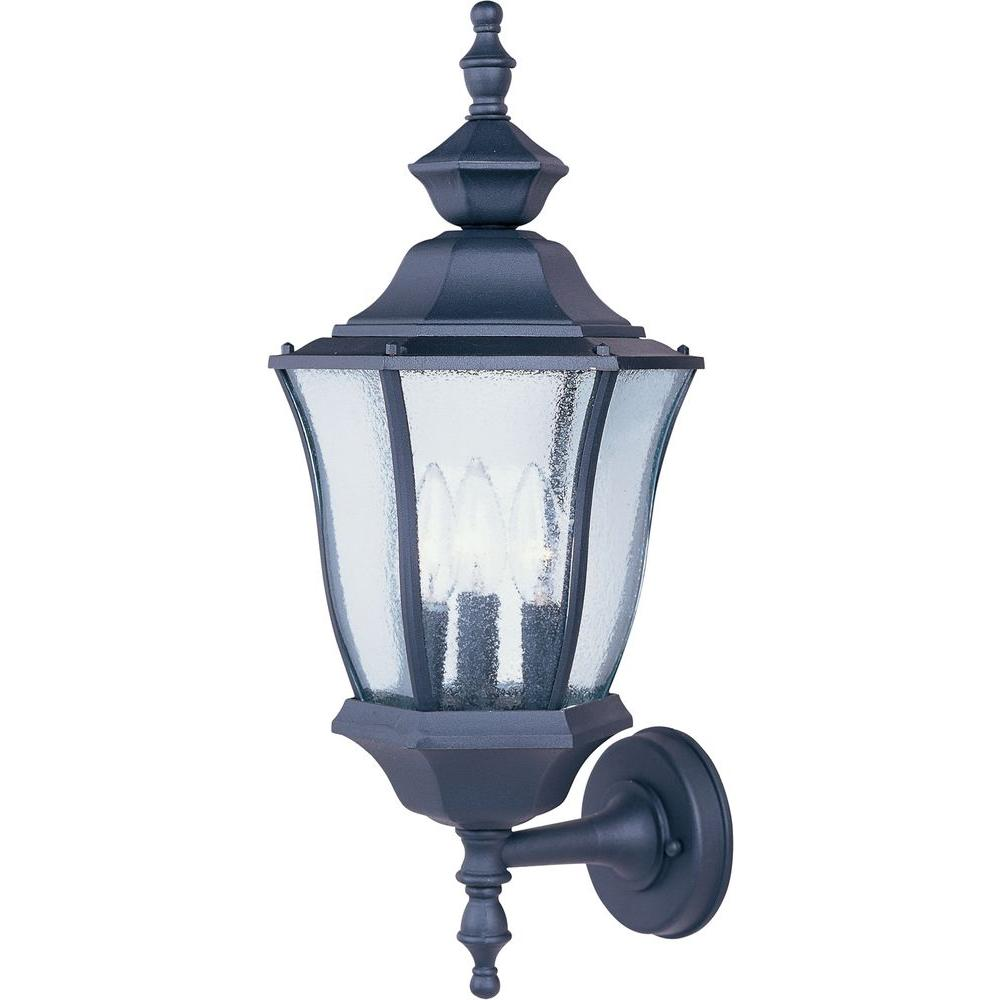Maxim lighting madrona 3 light black outdoor wall mount 1014bk the maxim lighting madrona 3 light black outdoor wall mount 1014bk the home depot aloadofball Gallery