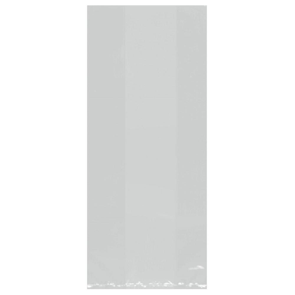11.5 in. x 5 in. Silver Cellophane Party Bags (25-Count, 9-Pack)