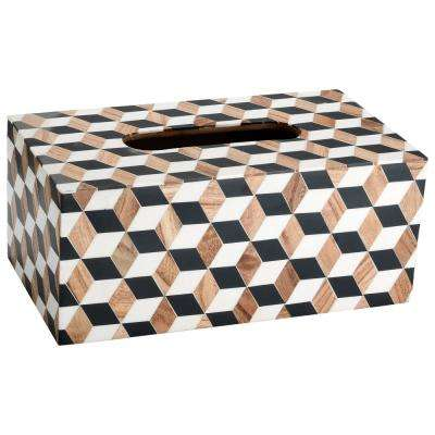 Cube Tissue Box Cover in Multicolor