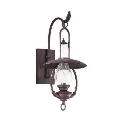 La Grange Old Bronze Outdoor Wall Mount Lantern