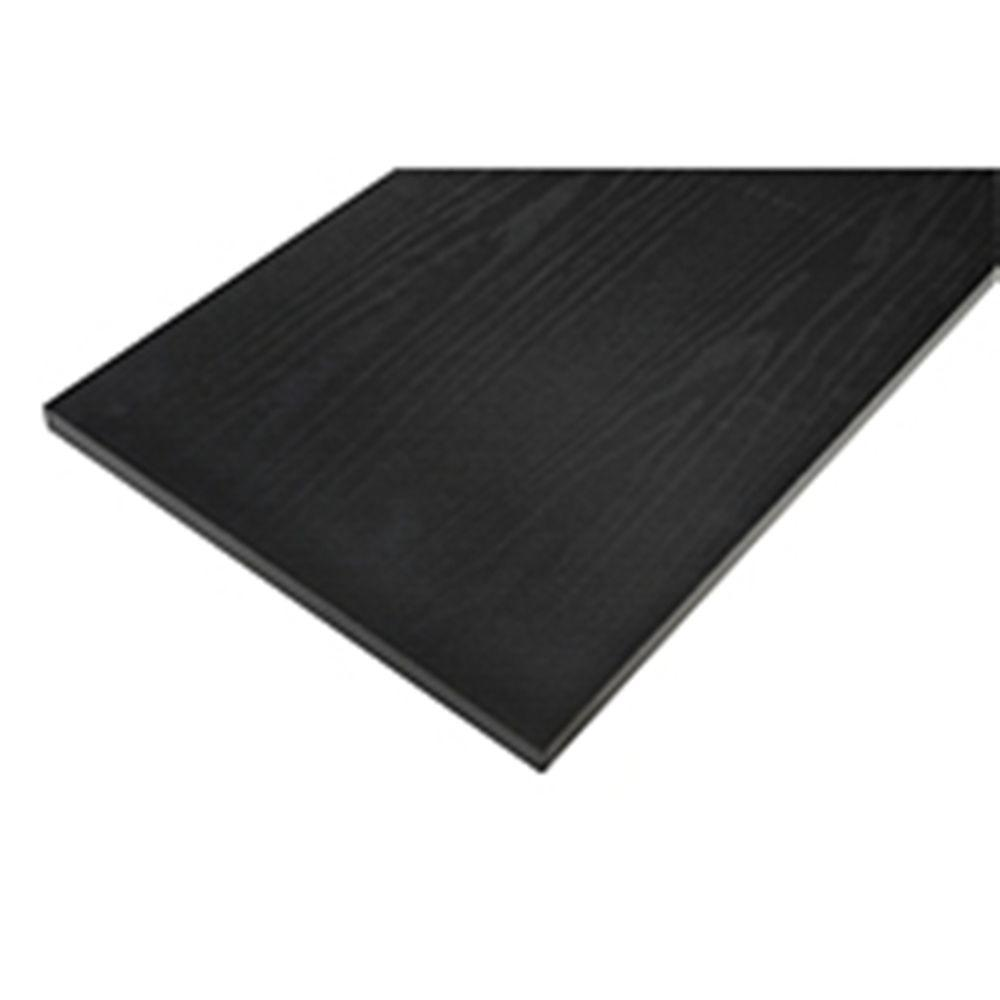 10 in. x 36 in. Black Laminated Wood Shelf with Satin