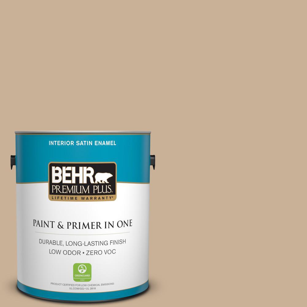 1 gal. #MQ2-46 Basswood Satin Enamel Zero VOC Interior Paint and