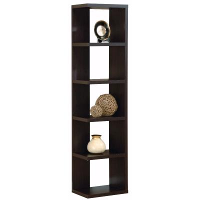 Simple and Stylish Brown Corner Display Cabinet