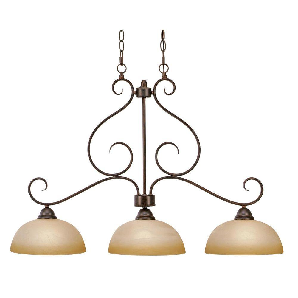 null Myers Collection 3-Light Peppercorn Linear Pendant