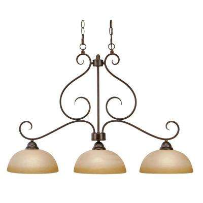 Myers Collection 3-Light Peppercorn Linear Pendant
