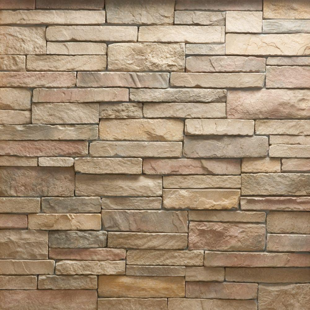 Veneerstone stacked stone cordovan flats 10 sq ft handy for Manufactured veneer stone