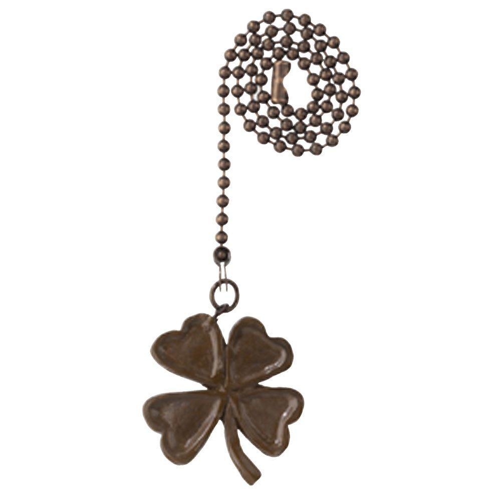 Antique Bronze Four-Leaf Clover Pull Chain