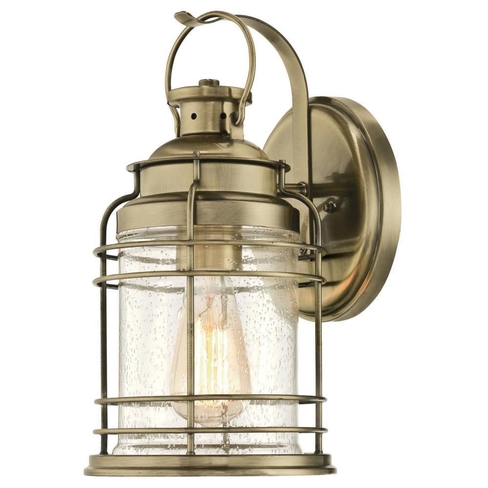Brass Outdoor Garage Lights: Westinghouse Kellen 1-Light Antique Brass Outdoor Wall