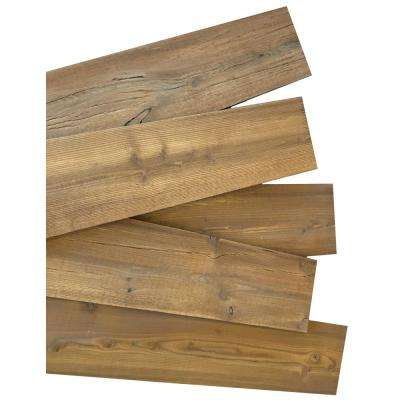 3/8 in. x 5-1/2 in. x 48 in. Weathered Brown Thermally Treated Siberian Larch Square Edge Wall Planks (11 sq. ft./Pack)