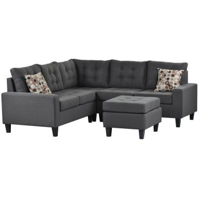 gray sectionals living room