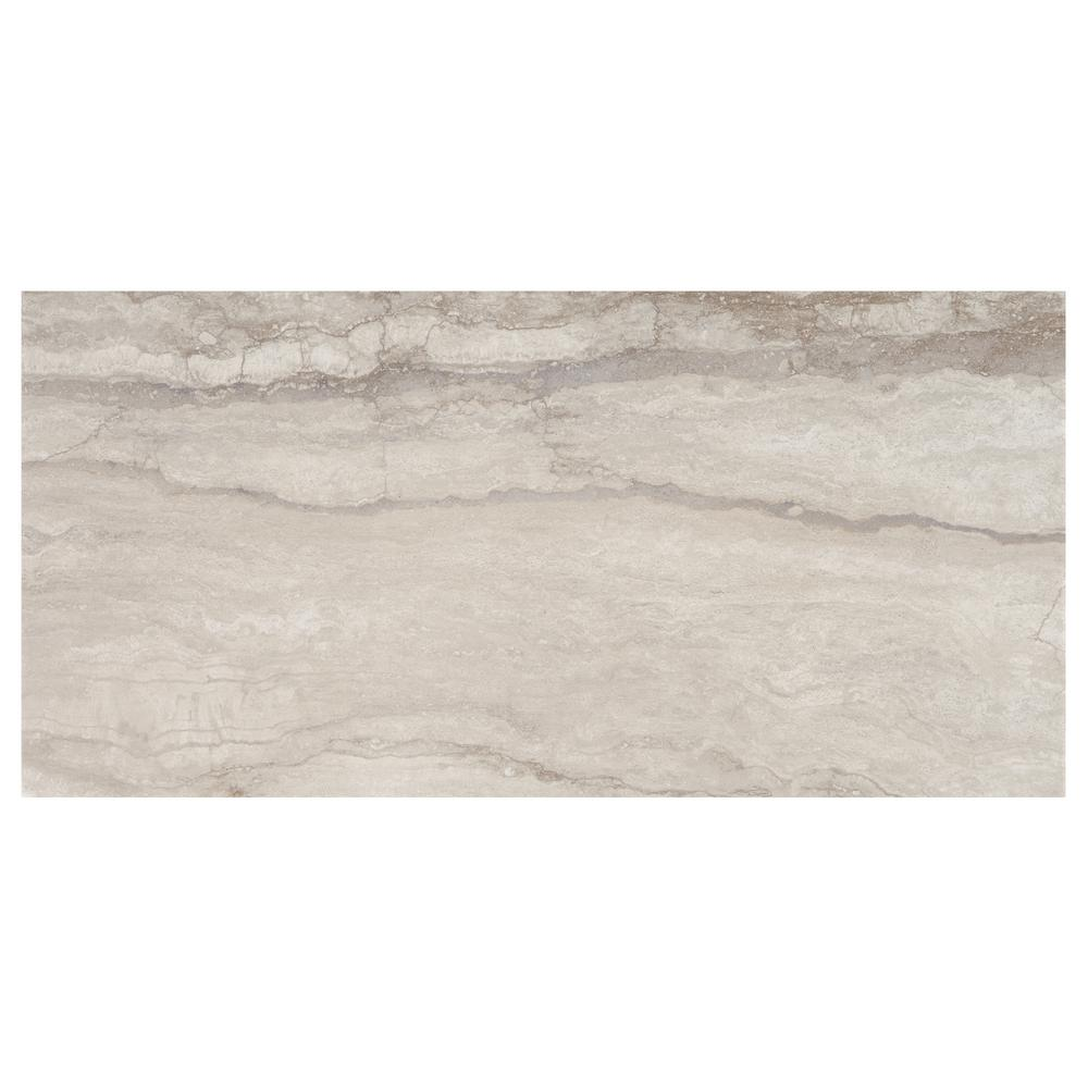 X Porcelain Tile Tile The Home Depot - Carrara porcelain tile 3x6
