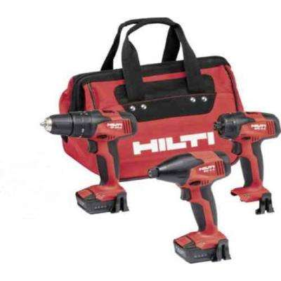 12-Volt Lithium-Ion Cordless Rotary Impact Driver/Hammer Driver/Drill and Screwdriver Combo Kit  (3-Tool)